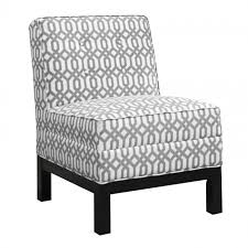 Armless Accent Chair Pewter And White Armless Accent Chair Accent Chairs Living