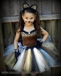 cheetah costume 2pc set leopard tutu dress cat birthday party tutu