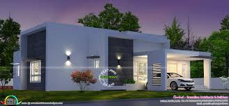 3 bedroom box model house architecture kerala home design