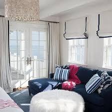 White Curtains With Blue Trim White Curtains Blue Trim Design Ideas