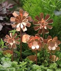 these copper garden flowers will never stop blooming garden