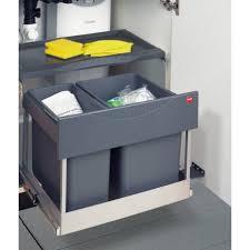 poubelle cuisine tri s駘ectif 2 bacs poubelle tri selectif 2 bacs 30l hailo auto accessoires de cuisine