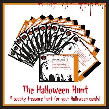 printable halloween treasure hunt game instant download