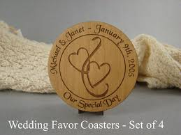 wedding coaster favors items similar to wood coasters for wedding favors or invitations