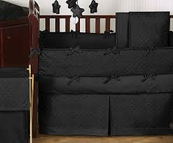 Minky Crib Bedding Solid Black Minky Dot Baby Bedding 9pc Crib Set By Sweet Jojo