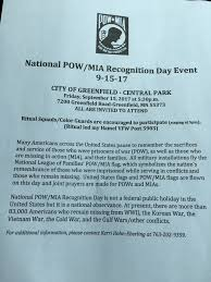 national pow mia recognition day event u2013 september 15 2017