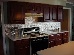 u shape kitchen decoration using silver metal kitchen backsplash