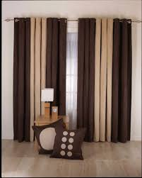 Antique Brass Curtain Rods Artistic Living Room Curtain Ideas Using Chocolate Brown