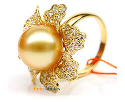 golden pearl rings images Golden south sea pearl diamond ring 13 14mm aaa pearl rings jpg