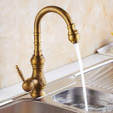 kitchen faucets single hole free shipping european design antique brass kitchen tap antique