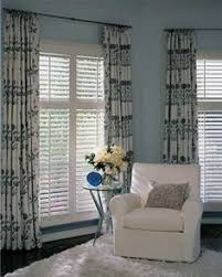 Pictures Of Window Blinds And Curtains Combining Plantation Shutters With Curtains Privacy Cosiness