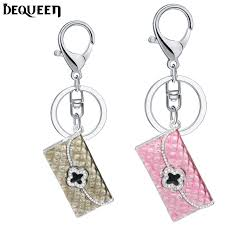 Best Gift For Women Best Gift For Girls Pink Wallet Keychain Rhinestone Keyrings Key