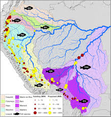 Amazon Basin Map Fragmentation Of Andes To Amazon Connectivity By Hydropower Dams