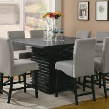 Coaster Stanton Square Counter Height Dining Table In Black - Counter height dining table in black