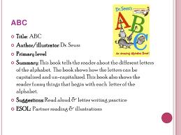 De Seuss Abc Read Aloud Alphabeth Book For Reading Response Project Simmons