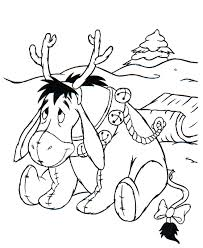 winnie pooh christmas coloring pages learntoride