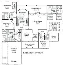 house plan with basement one story house plans with basement fresh one story house plans