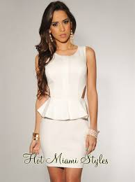 peplum dress white key back peplum dress