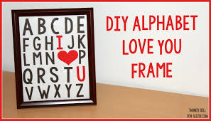diy i heart you frame a little craft in your day