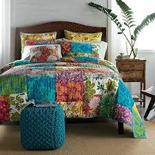 Girls Hawaiian Bedding by Amazon Com Tache Floral Cotton 3 Piece Colorful Flower Power