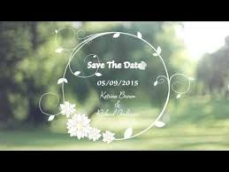 membuat video wedding invitation custom wedding invitation video save the date youtube
