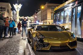 red chrome lamborghini gold chrome lamborghini aventador bites the dust in poland