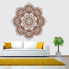 compare prices on wall decals online shopping buy low price wall 57cm x 57cm mandala flower indian pvc wall stickers wall decals for living room bedroom decorative