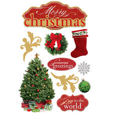 christmas stickers paper house 3d stickers merry christmas