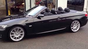 bmw 330i m sport convertible black auto for sale at hillmoren