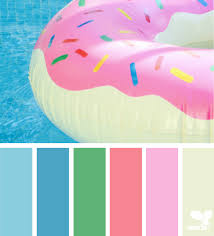 pink complimentary color color float design seeds