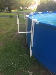 Intex Pool 14x42 Pool Ladder Incorporates The Stock Pool Ladder Very Stable