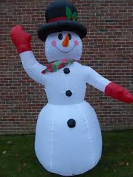 large inflatable snowman christmas decoration 240cm 8ft 8 led