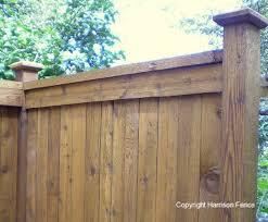 Decorative Wood Post Wood Privacy Fences Harrison Fence