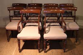William Iv Dining Chairs Set Of 10 William Iv Period Mahogany Dining Chairs Antique