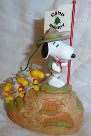 snoopy beagle scout and woodstock c snoopy flag ornament