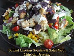 grilled chicken southwest salad with chipotle dressing gluten