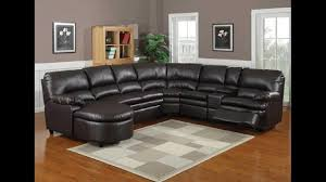 6 pc nicole espresso bonded leather sectional sofa with recliners