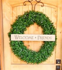 large welcome wreath boxwood wreath scented wreaths artificial