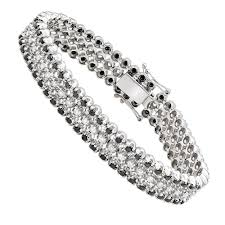 black diamond gold bracelet images Luxurman white and black diamond tennis bracelet for men in 14k jpg