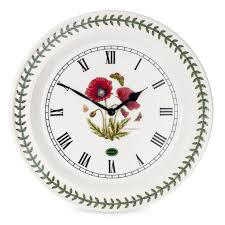 portmeirion botanic garden poppy 10 inch wall clock portmeirion uk