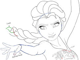 draw elsa frozen easy step step drawing