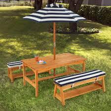 kid kraft outdoor table and umbrella set kids outdoor furniture set