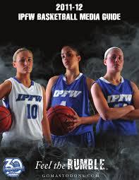 2011 12 ipfw women u0027s basketball media guide by fort wayne