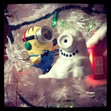 hallmark despicable me minion ornament on my tree