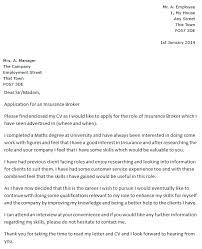 Cover Letter Exles 2014 by Cover Letter Exles Insurance Insurance Broker Cover Letter