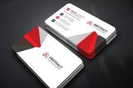 Abstract Business Cards Abstract Business Card Business Card Templates Creative Market
