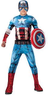 Captain Marvel Halloween Costume Amazon Marvel Avengers Assemble Captain America Deluxe Muscle