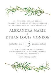wedding invitations simple sprigs wedding invitations by erin deegan minted