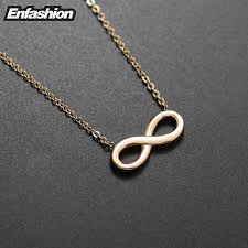 fashion infinity necklace images Fashion infinity necklace women pendant necklace rose gold color jpg