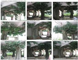 custom cheap large outdoor artificial trees stumps decorative fig